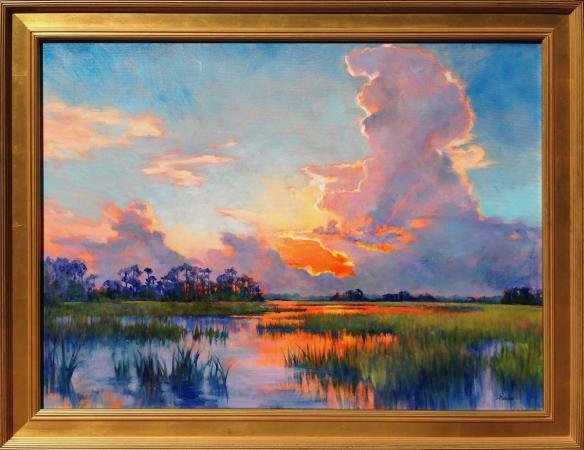 Summer Sunset on Coastal Marsh