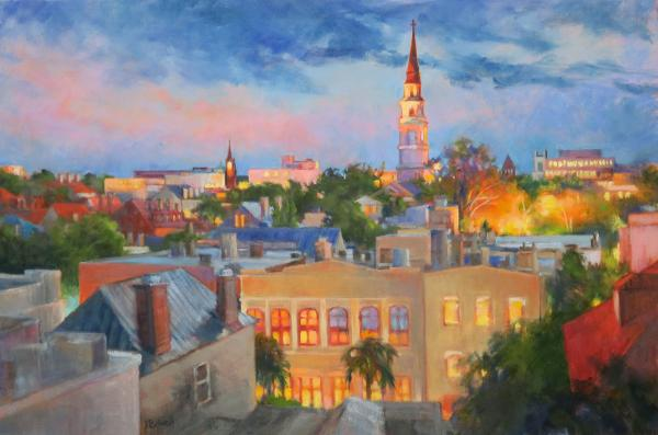 Early Evening Charleston Rooftops
