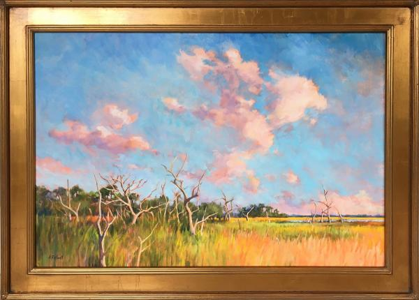 Junko Ono Rothwell, Spring Clouds Over Salt Marsh