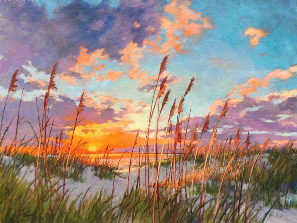 Sunrise and Sea Oats, II