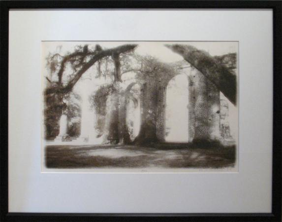 Sheldon Church arch under Oaks